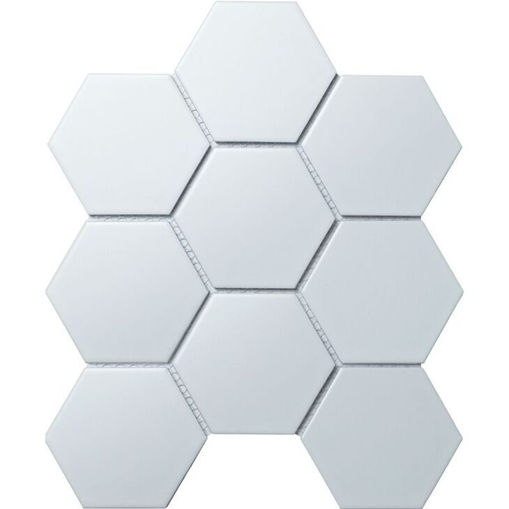 Hexagon big White Matt (SBH1005)